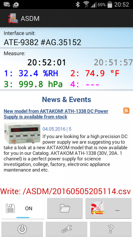 Aktakom Smart Data Monitor software is now available on