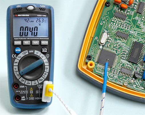 AKTAKOM AMM-1062 Professional Digital Multimeter with Environment Measurements - Temperature Measuring