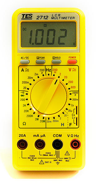 TES TES-2712 Digital LCR Multimeter - front view