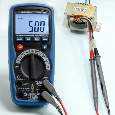 AKTAKOM AMM-1028 Professional Industrial Digital Multimeter - Frequency measurement