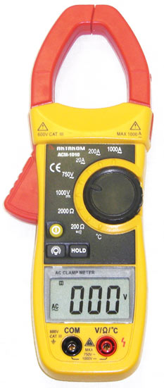 AKTAKOM ACM-1010 1000 A AC Clamp Meter & Thermometer (K-type) - front view