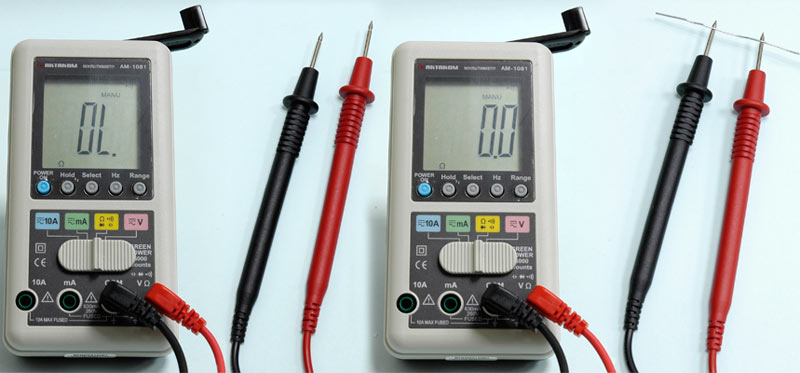 AKTAKOM AM-1081 Hand Charger Digital Multimeter - Continuity Check