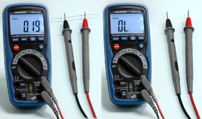 AKTAKOM AMM-1028 Professional Industrial Digital Multimeter - Continuity Check