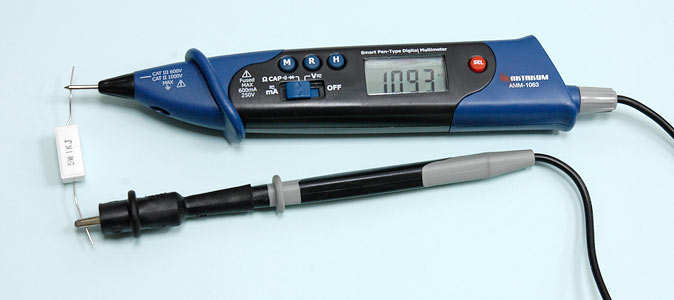 AKTAKOM AMM-1063 Smart Pen-type Digital Multimeter for IT - Resistance Measurements