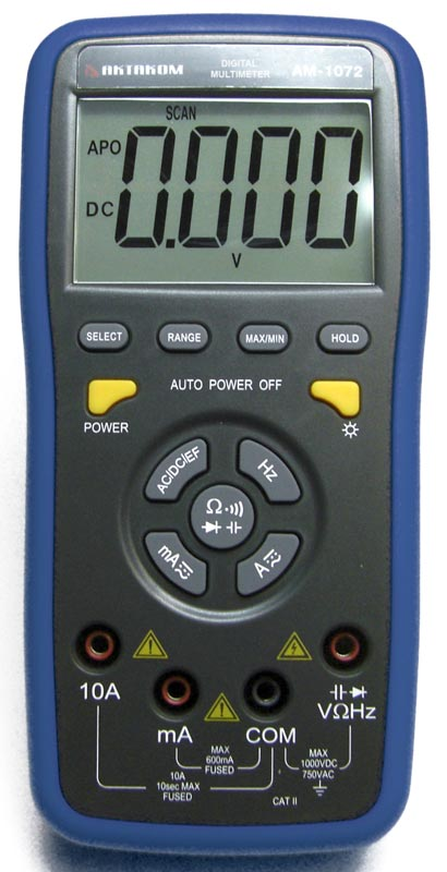AKTAKOM AM-1072 Digital Push-Button Control Multimeter - front view