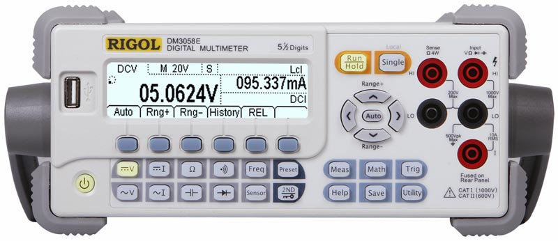 RIGOL DM3058E 5 1/2 Digit Digital Multimeter - front view