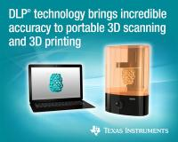 TI DLP® technology brings micron-to-sub-millimeter industrial accuracy, speed and flexibility to desktop 3D printers and portable 3D scanners