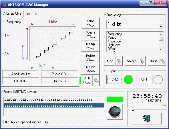 AKTAKOM AKTAKOM AWG Manager Application Software