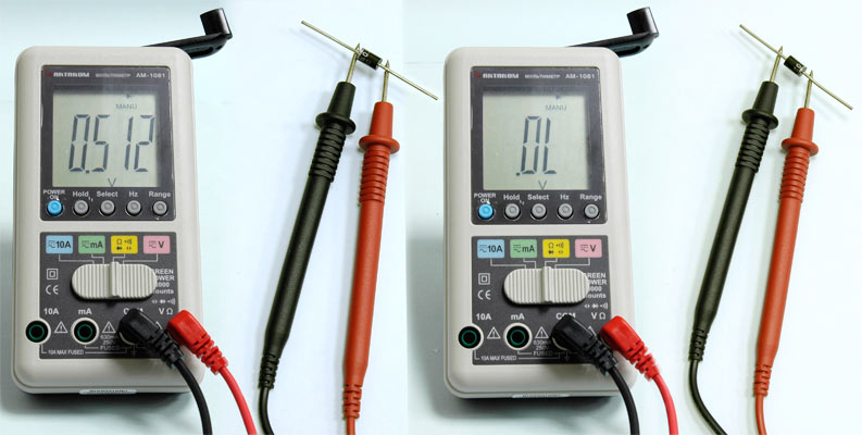 AKTAKOM AMM-1081 Hand Charger Digital Multimeter - Diode Test