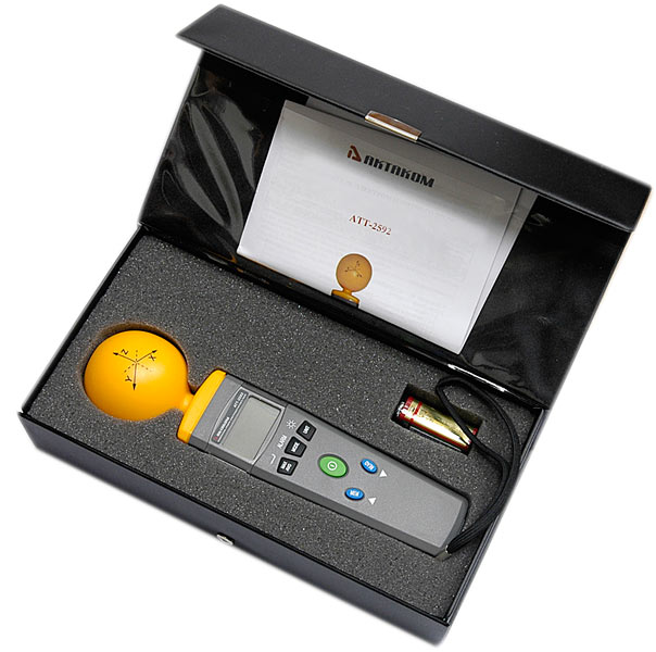 AKTAKOM ATT-2592 Portable Electromagnetic Field Tester - in case