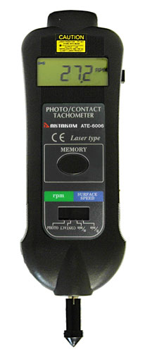 AKTAKOM ATE-6006 Laser Photo/Contact Tachometer