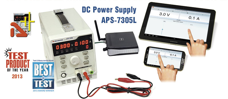 AKTAKOM APS-7305L DC Power Supply Remote controlled from your iPad or Android 150W 30V / 5A 1 channel programmable