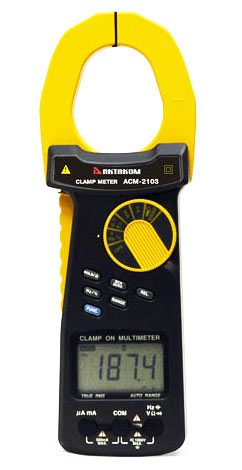 AKTAKOM ACM-2103 2000 A AC/DC Clamp Meter. True RMS + Multimeter + Direct current input (mA, µA)
