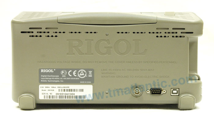 RIGOL DS1052E Digital Oscilloscope - Rear view