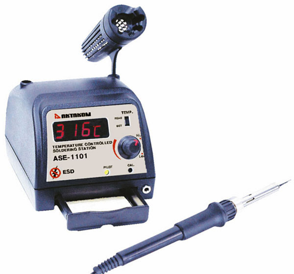 AKTAKOM ASE-1101 ESD-Safe Professional Temperature Controlled Digital Soldering Station