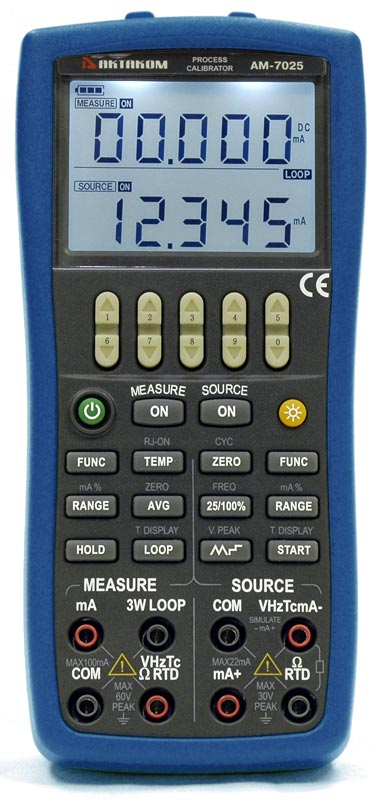 AKTAKOM AM-7025 Process Calibrator Multi-Function - front view