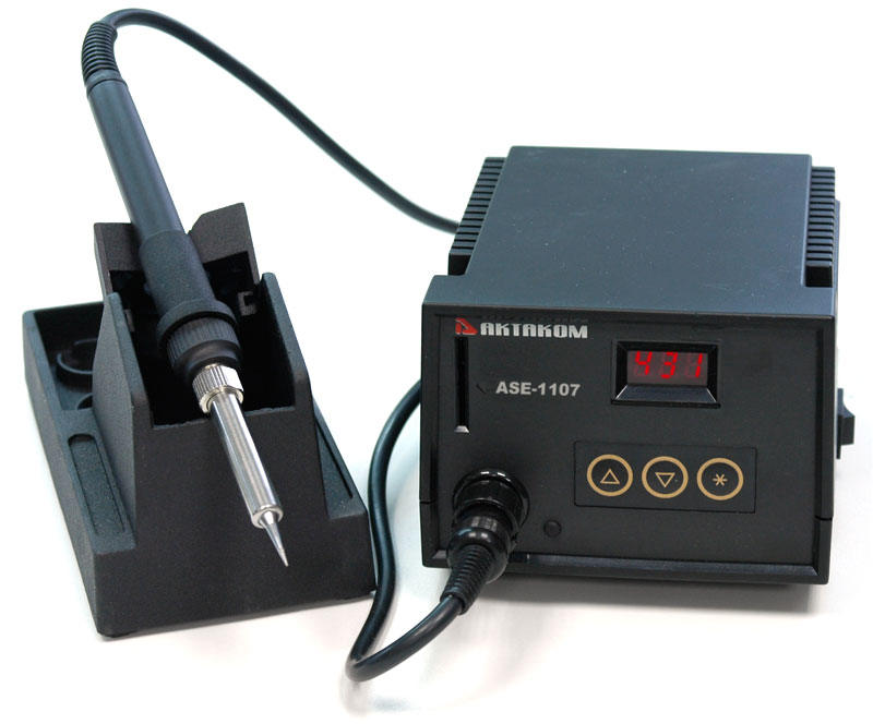 AKTAKOM ASE-1107 ESD-safe Temperature Controlled Digital Soldering Station