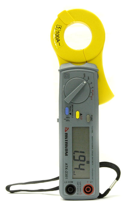 AKTAKOM ATK-2301 Watt Clamp Meter - Front view
