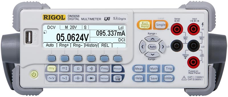 RIGOL DM3058 5 1/2 Digit Digital Multimeter - Front view