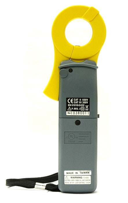 AKTAKOM ATK-2301 Watt Clamp Meter - Rear view
