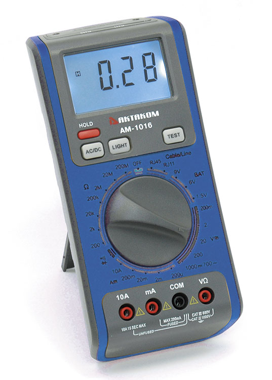 AKTAKOM AM-1016 Network Multimeter for testing LAN cables & Phone lines