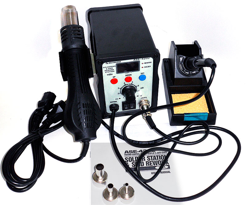AKTAKOM ASE-4202 ESD-Safe Temperature Controlled Digital Soldering and SMD Rework Station