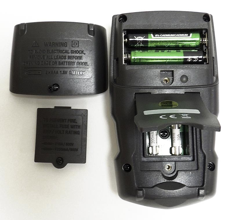 AKTAKOM AMM-1042 Digital Multimeter - Rear panel
