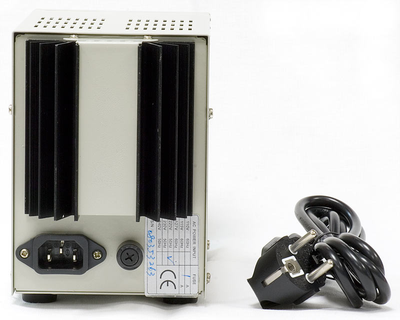 AKTAKOM ATH-1232 DC Power Supply 30V / 2A 1 Channel - rear view
