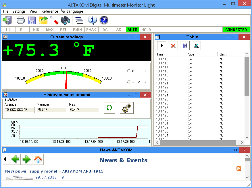 AKTAKOM Aktakom DMM Light Software for Multimeters