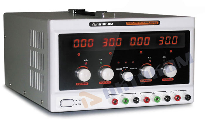 AKTAKOM APS-3203 DC Power Supply 195W 30V / 3A 2CH+1Aux