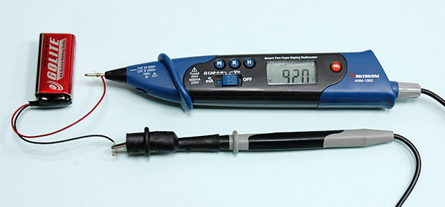 AKTAKOM AMM-1063 Smart Pen-type Digital Multimeter for IT - DC Current Measurement