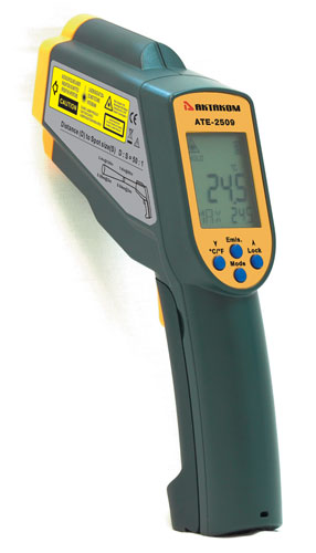 "AKTAKOM ATE-2509 Ultra-Wide-Range Infrared Thermometer with ""K"" Port and Adjustable Emissivity"