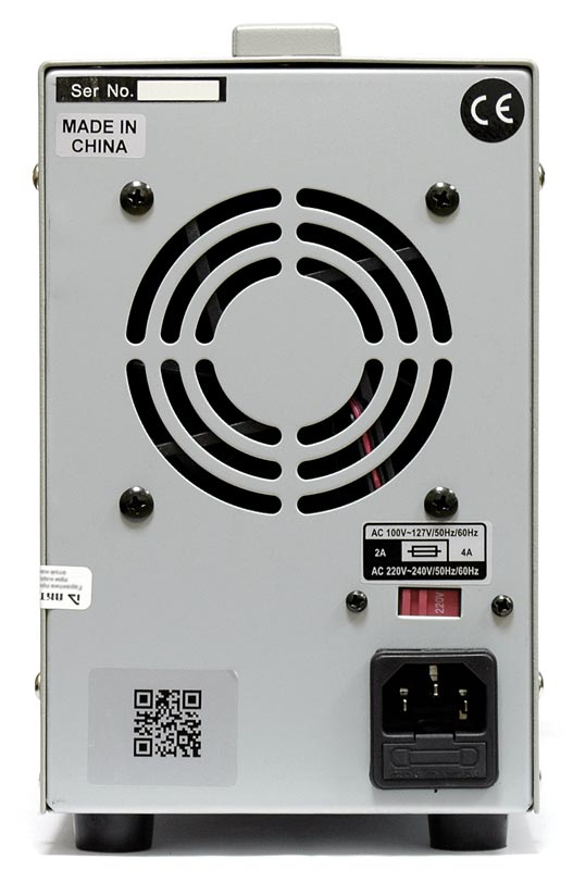 AKTAKOM APS-1306 DC Regulated Power supply - rear view