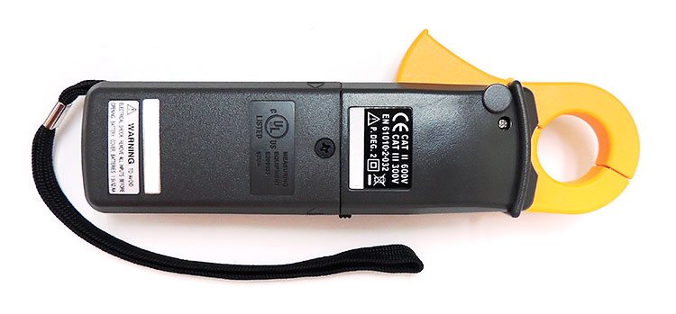 AKTAKOM ATK-2021B Clamp Meter - back view