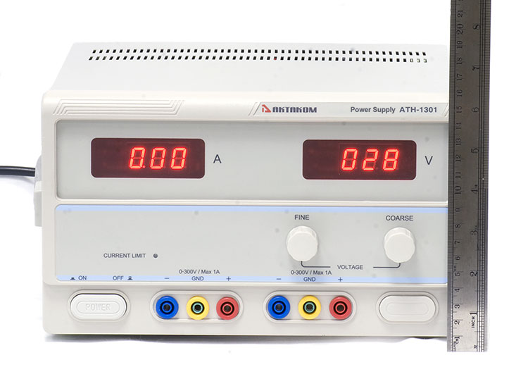 AKTAKOM ATH-1301 DC Power Supply 300V / 1A 1 Channel - front view