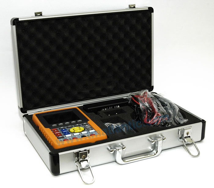 OWON HDS3102M-N Handheld Oscilloscope 100MHz 500MSa/s - Carrying case
