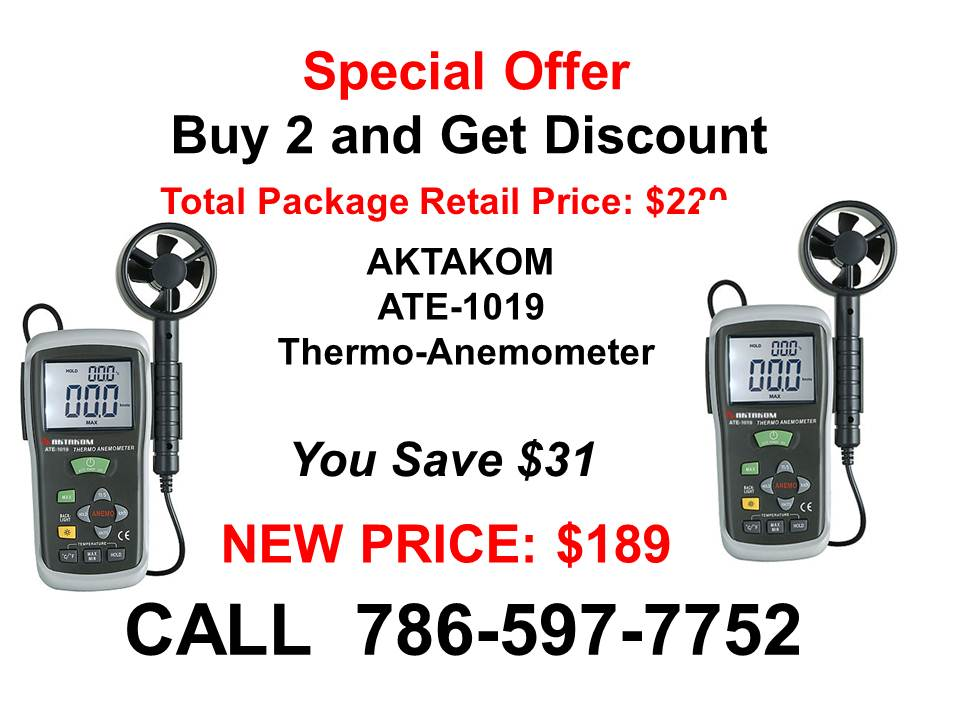 AKTAKOM ATE-1019 Thermo-Anemometer - Special Offer