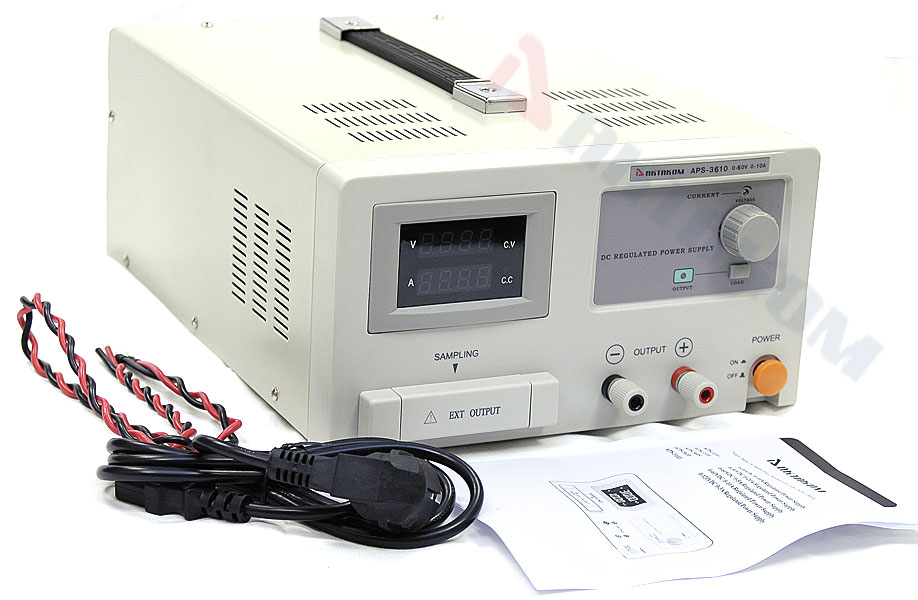 AKTAKOM APS-3610 DC Power Supply 60 V / 10 A, 1 Channel - Packaging arrangement