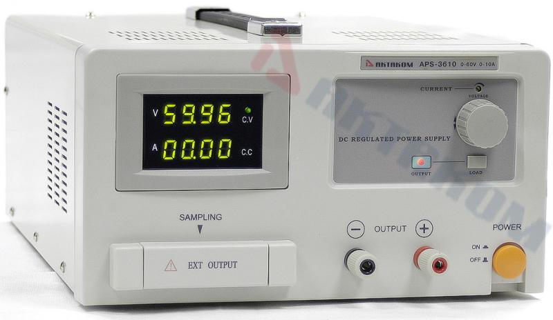 AKTAKOM APS-3610 DC Power Supply 60 V / 10 A, 1 Channel