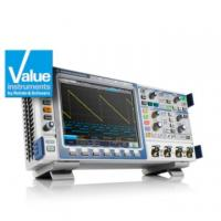 200 MHz bandwidth, education mode, digital voltmeter and frequency counter added to R&S RTM bench oscilloscope