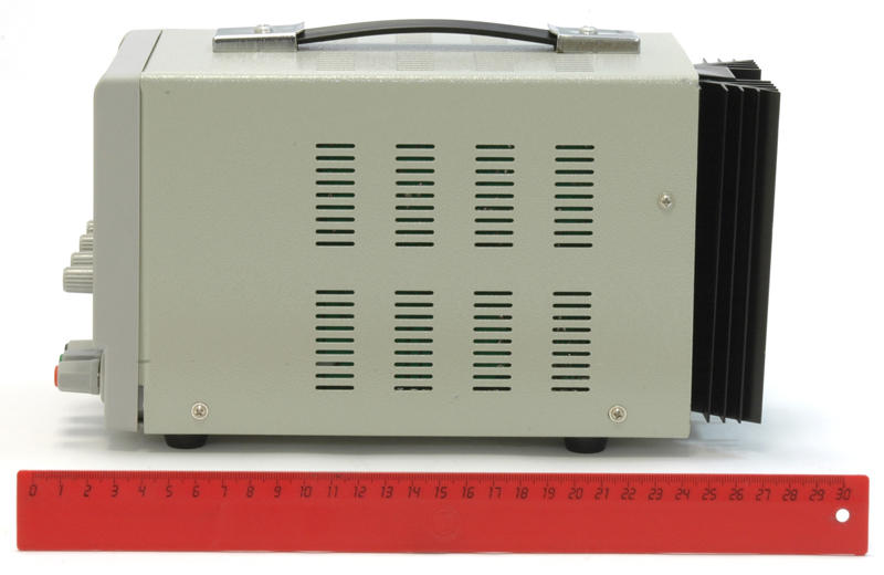 AKTAKOM ATH-1333 DC Power Supply 30V / 3A, 1 channel - Side view