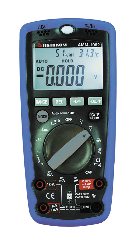 AKTAKOM AMM-1062 Professional Digital Multimeter with Environment Measurements