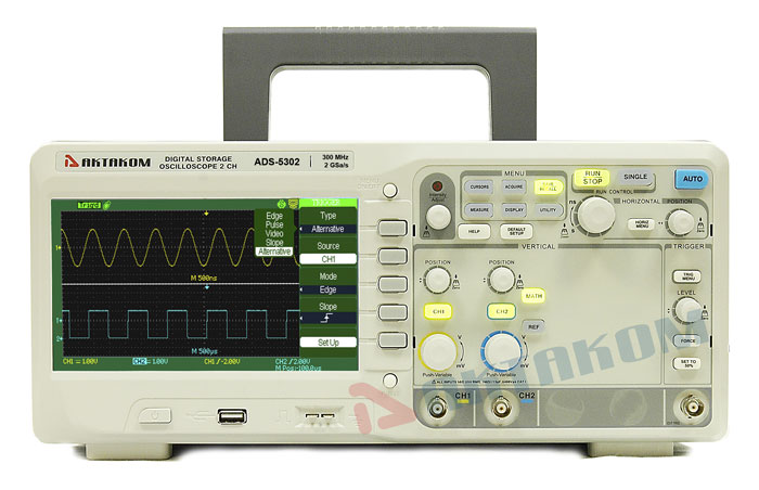 AKTAKOM ADS-5302 Digital Storage Oscilloscope 300MHz 2GSa/s