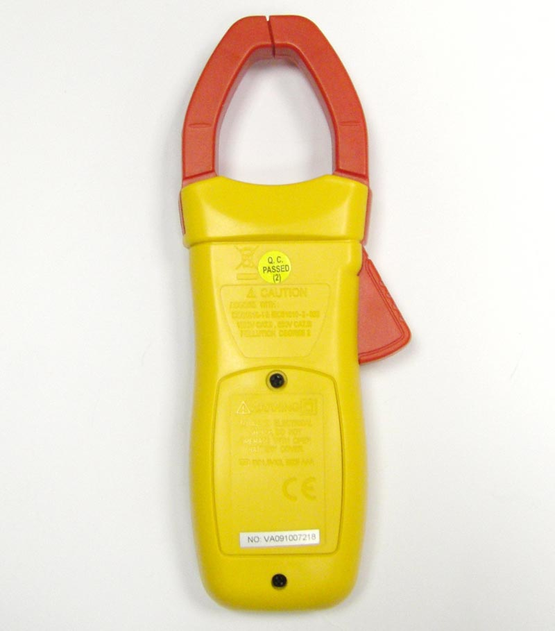 AKTAKOM ATK-2035 Clamp Meter - Rear view