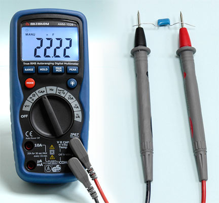AKTAKOM AMM-1028 Professional Industrial Digital Multimeter - Capacitance Measurement