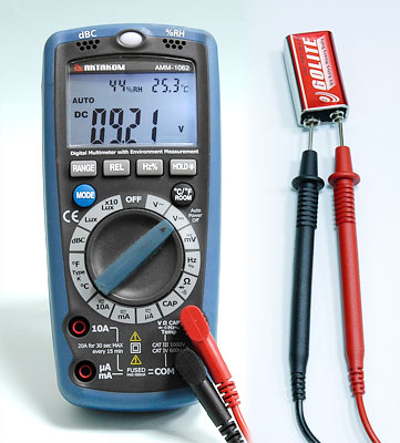 AKTAKOM AMM-1062 Professional Digital Multimeter with Environment Measurements - DC Voltage Measurement