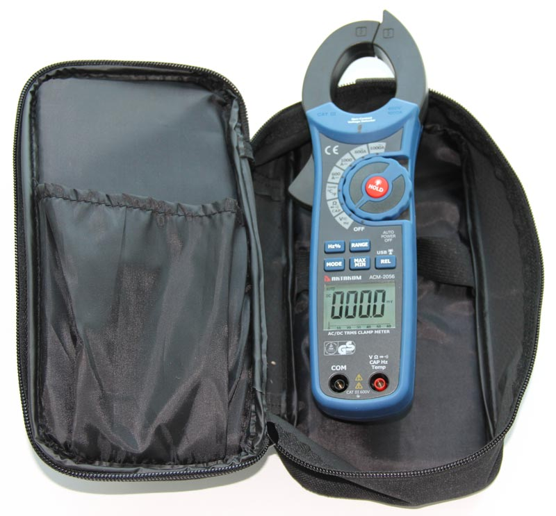 AKTAKOM ACM-2056 1000 A AC/DC Clamp Meter. True RMS + Multimeter + Wireless USB - with carrying case