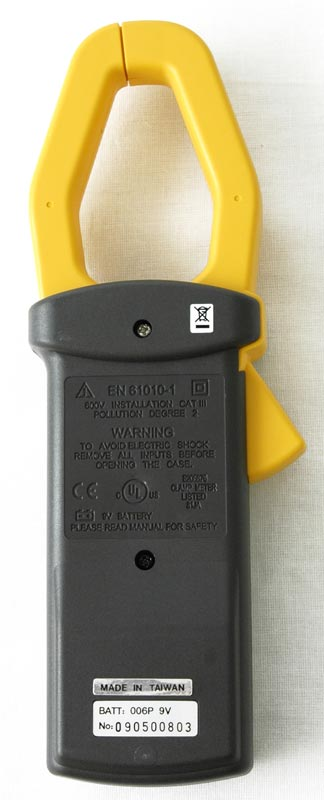 AKTAKOM ATK-2209 Clamp Meter - Rear view