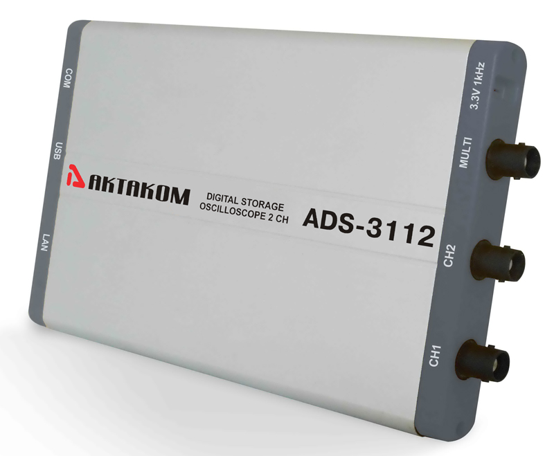 AKTAKOM ADS-3112 two-channel USB PC-based oscilloscope