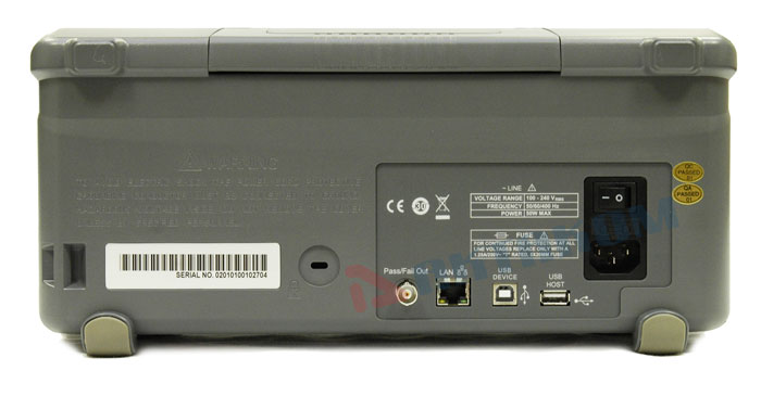 AKTAKOM ADS-5202 Digital Storage Oscilloscope 200MHz 2GSa/s - Rear view